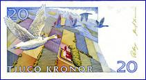 20-Kronen-Geldschein, Schweden