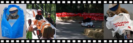 Filmstreifen Seifenkistenrennen in Krefeld mit Kasimir und Cäsar