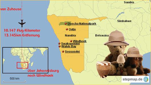 Kasimir, Cäsar und Fredi in Namibia, Afrika