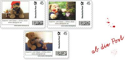 Briefmarken Kasimir und Cäsar