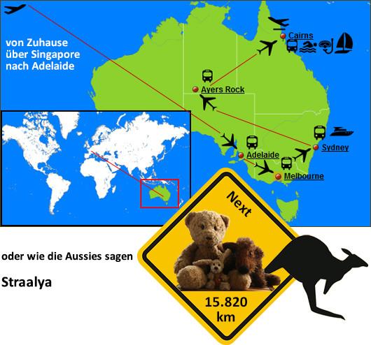 Kasimir, Cäsar und Fredi in Australien