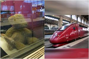 Kasimir, Cäsar und Fredi im Thalys auf dem Weg nach Paris
