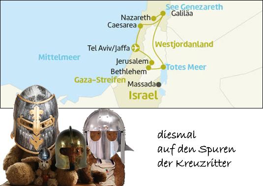 Kasimir, Cäsar, Fredi und Kerl besuchen Israel