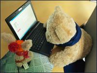 Kasimir und Cäsar mit Netbook