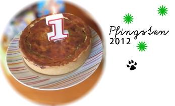 Fredis Geburtstags-Bratwurst-Kuchen, Pfingsten 2012