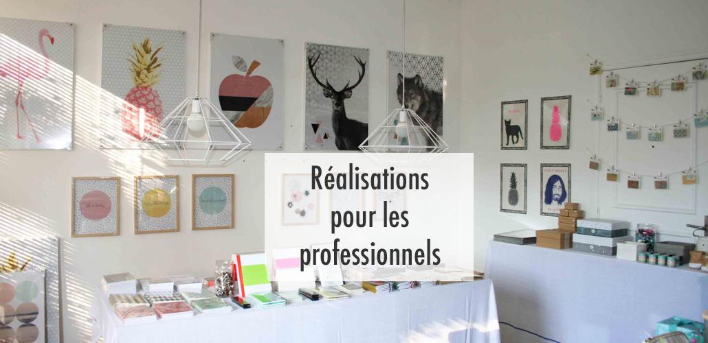 Découvrez nos réalisations de conseil en décoration pour les professionnels : aménagement de bureaux, rénovation de magasins, décoration d'hotels et de restaurants, visual merchandising...