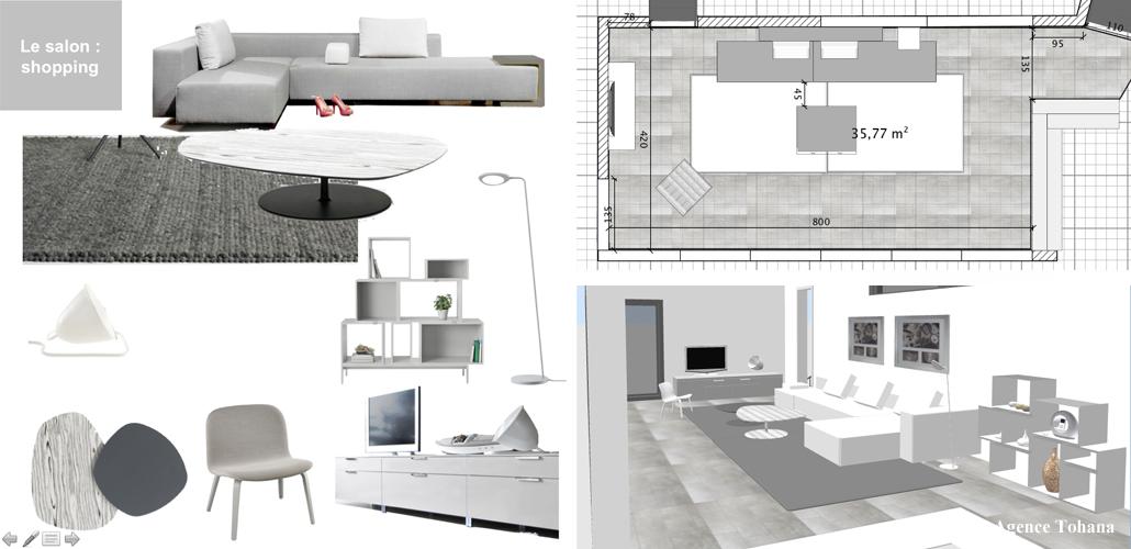 Dossier Conseil pour un salon design à Saint-Gilles