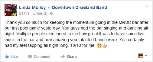 Testimonials - Downtown Dixieland Band Limerick