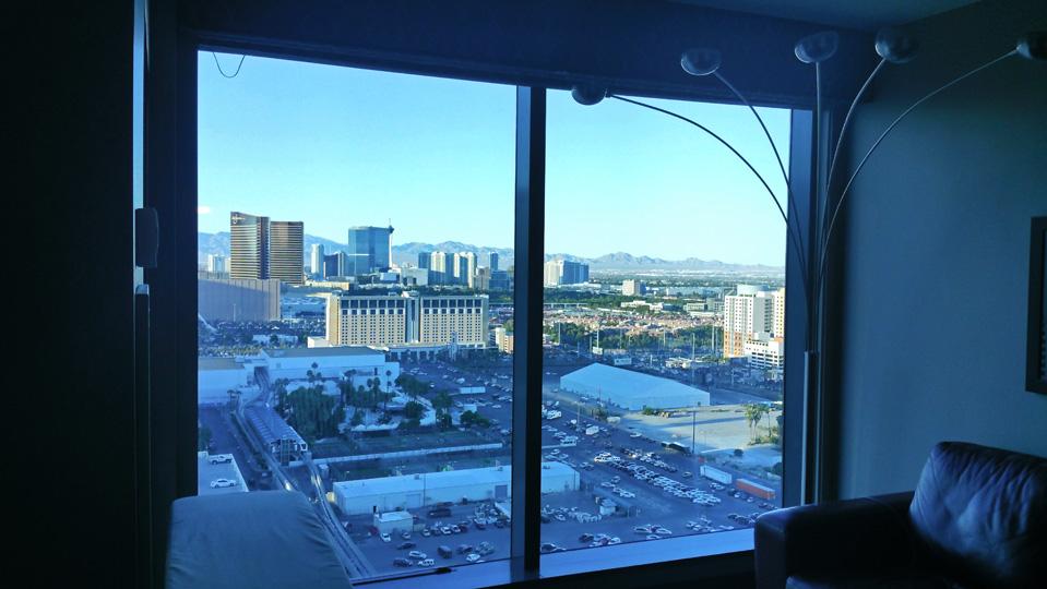 Aussicht aus meinem Hotelzimmer am späten Nachmittag