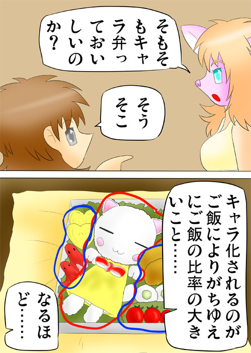 キャラクター弁当を分析する少年 ふわもふケモノ家族連載web漫画第四十五話5p