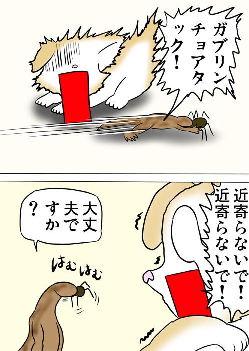 クモを食べるヤモリ