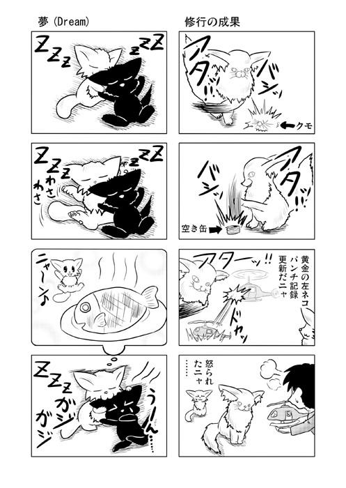 ねこねこ四コマweb漫画ミーのおもちゃ箱24p
