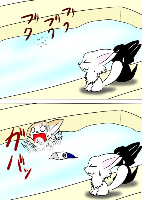 風呂で溺れかけるスコティッシュフォールド猫 ほのぼの・ふわもふ猫の日常四コマweb漫画365話2p