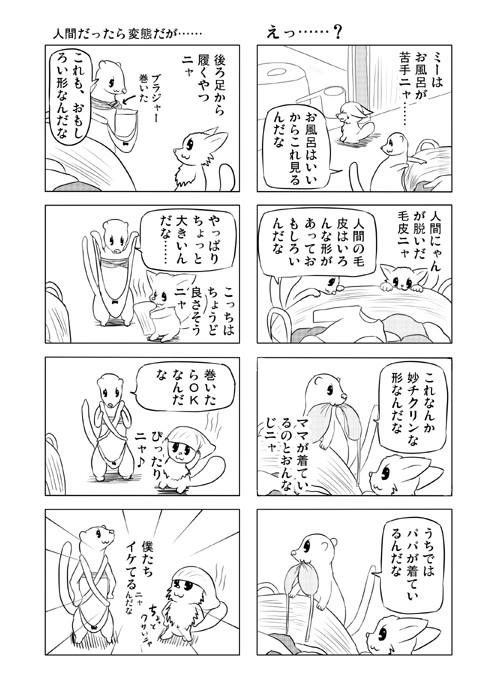 ねこねこ四コマweb漫画ミーのおもちゃ箱37p