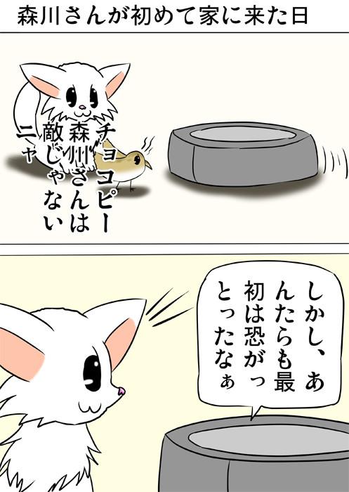 思い出を語るロボット掃除機 ふわもふ猫の日常四コマweb漫画234話1p