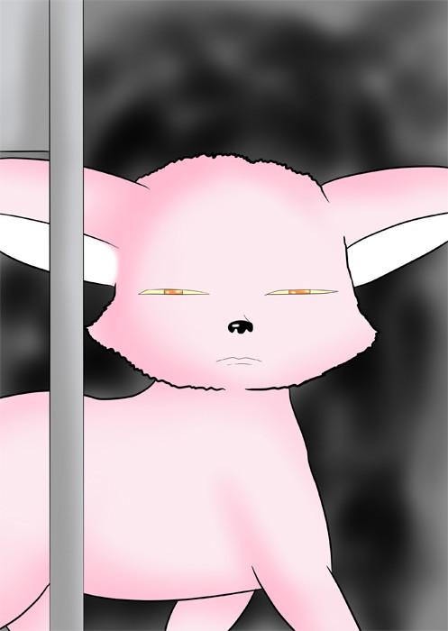 目つきの悪いフェネックギツネ ふわもふケモノ家族連載web漫画第四十六話4p