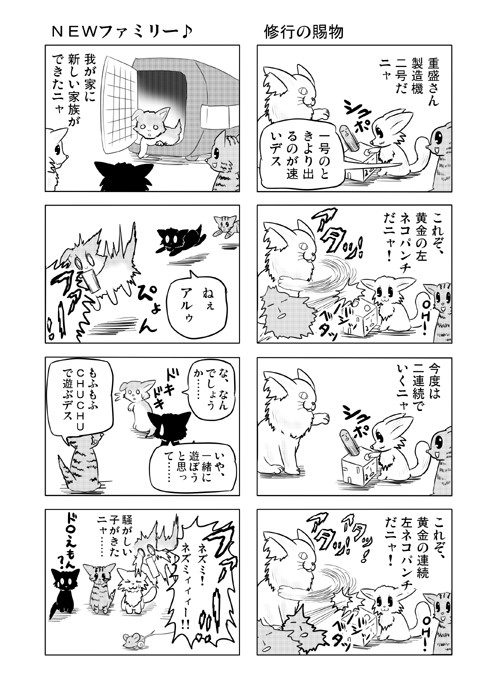 ねこねこ四コマweb漫画ミーのおもちゃ箱20p
