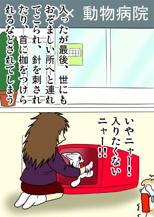 キャリーケースに入ることを頑なに拒むマンチカン ネコ四コマweb漫画168話2p