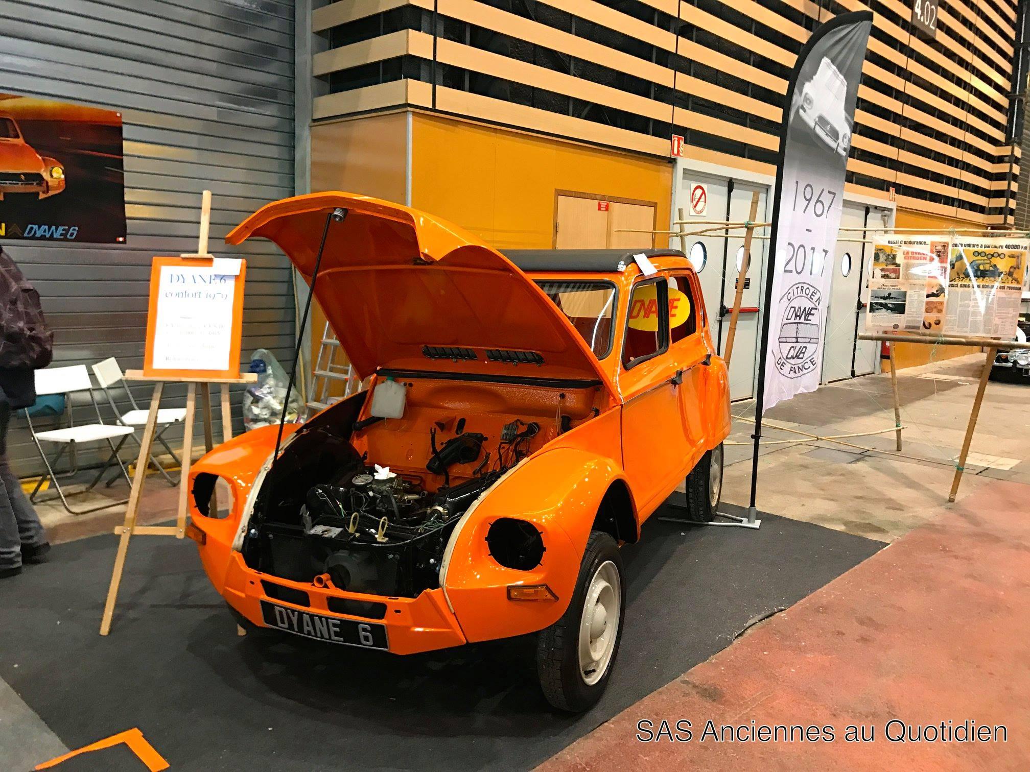 Exposition : Epoqu'auto 2017 sur le stand du Dyane Club de France.