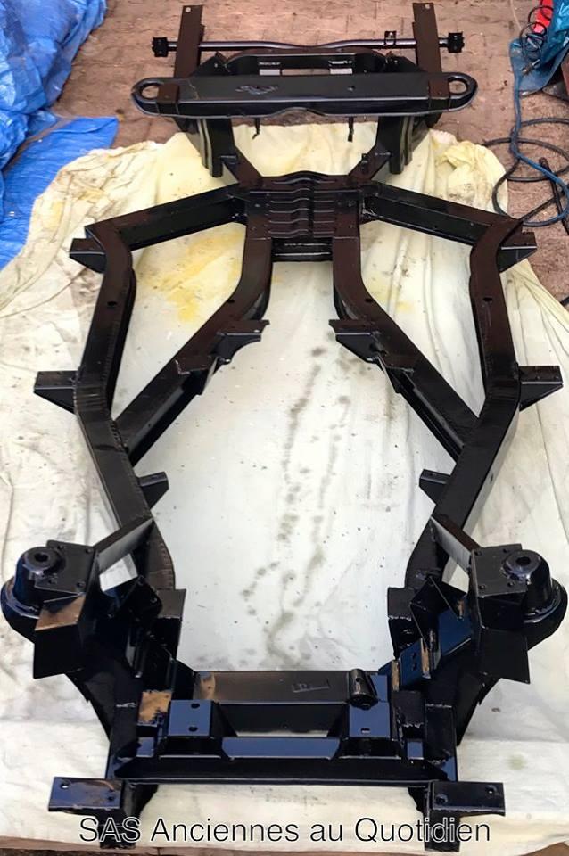 Le châssis et les trains roulant sont intégralement repeint et traités contre la corrosion