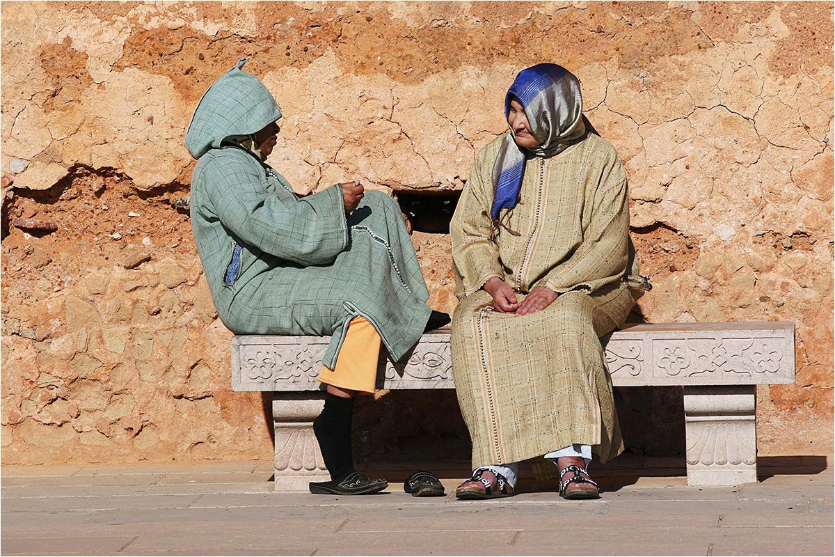 """2. Platz: Anita Engel-Schober """"Marokko - Zwei Frauen beim Plausch"""""""