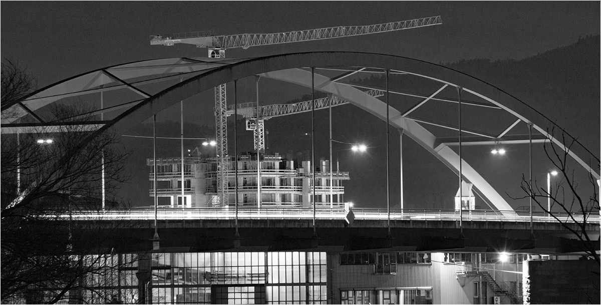 """1. Platz: Lothar Renner """"Brücke mit Hintergrund im Wandel"""""""