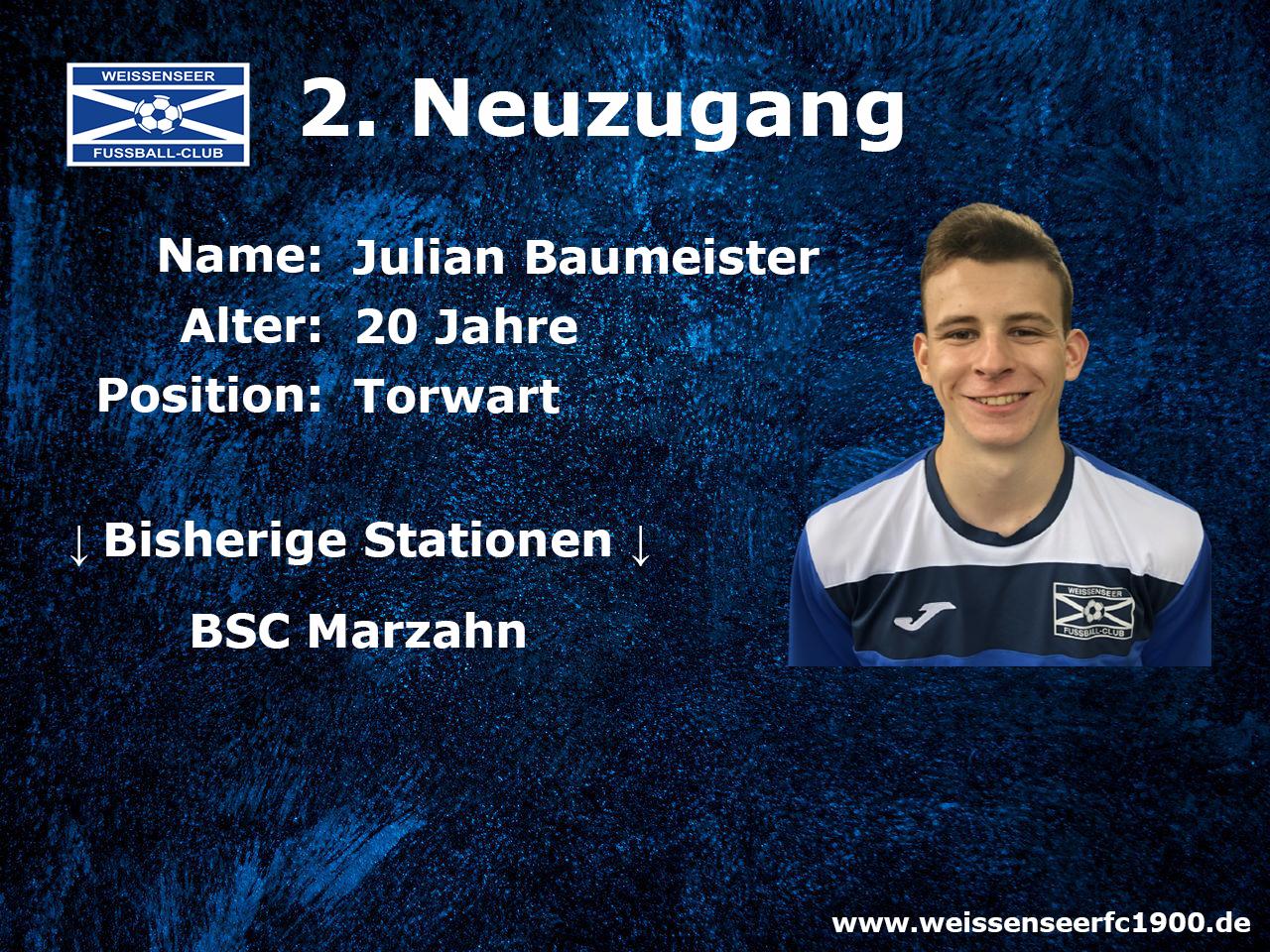 Neuer Torwart für die Landesliga-Mannschaft