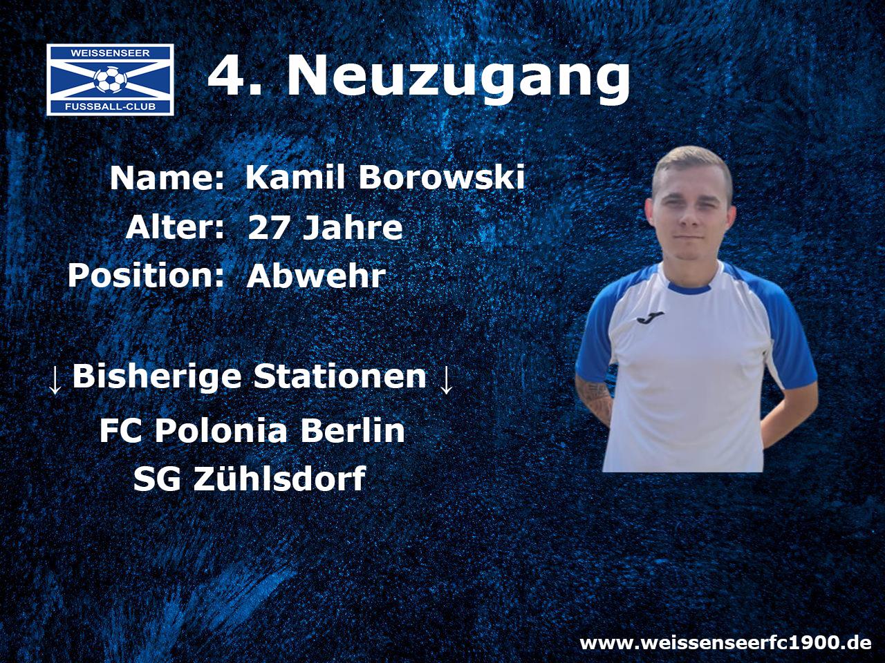 4. Neuzugang für das Landesliga-Team