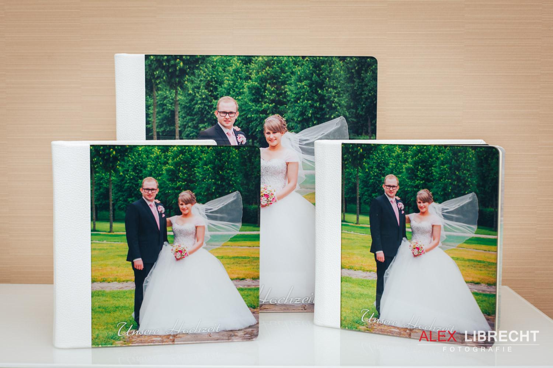 Hochzeits Leder Fotobuch Acrylglas