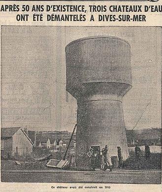 En 1963, les 3 châteaux d'eau de la rue du même nom sont démolis