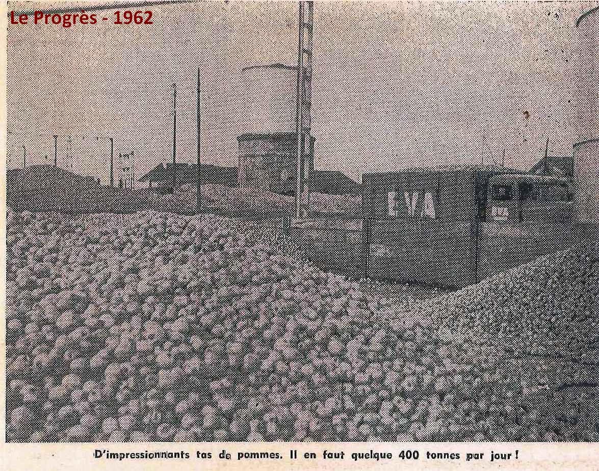 Le Progrès -1962 Cidrerie Blanchard tas de pommes