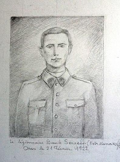 Légionnaire russe - Collection Sergeff - Un Russe légionnaire avant sa demande de naturalisation en France