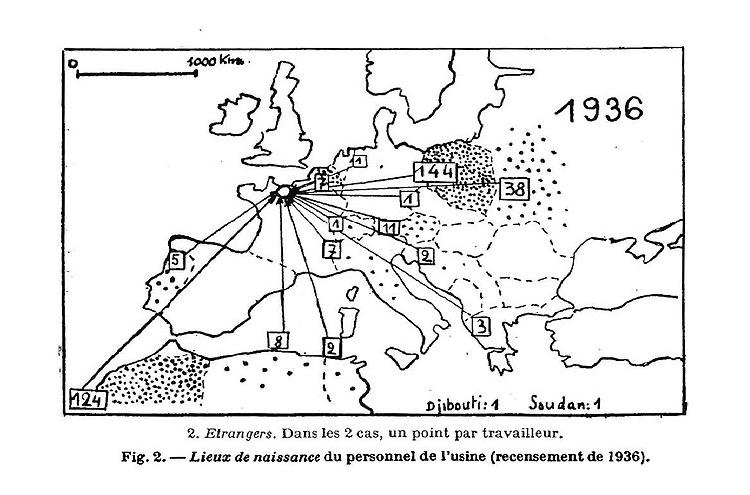 Origine des travailleurs - 1936 Article ELHAI