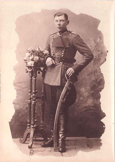 Soldat polonais, Sobotka - Collection Wanda Desfossé, le père avant son arrivée en France