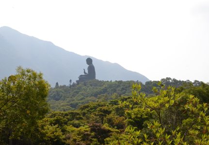 Big Buddha and the lovely nature of Hong Kong
