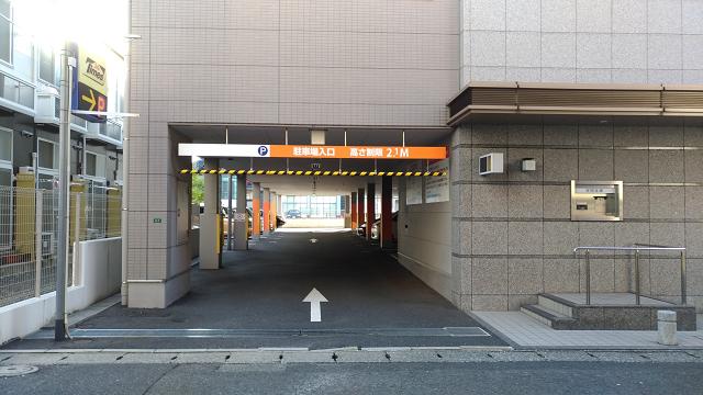 西日本シティ銀行徳力支店駐車場入り口付近
