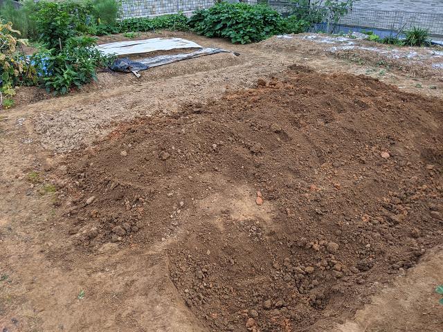 雨模様が続く中、毎日せっせと耕す