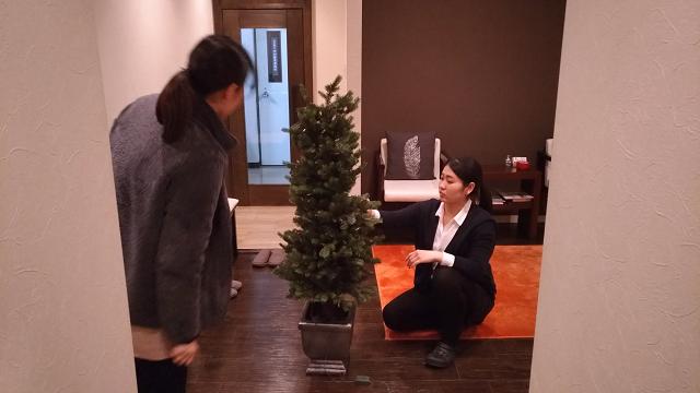 北九州市小倉にあるリラクゼーションマッサージリセッタのクリスマスツリー