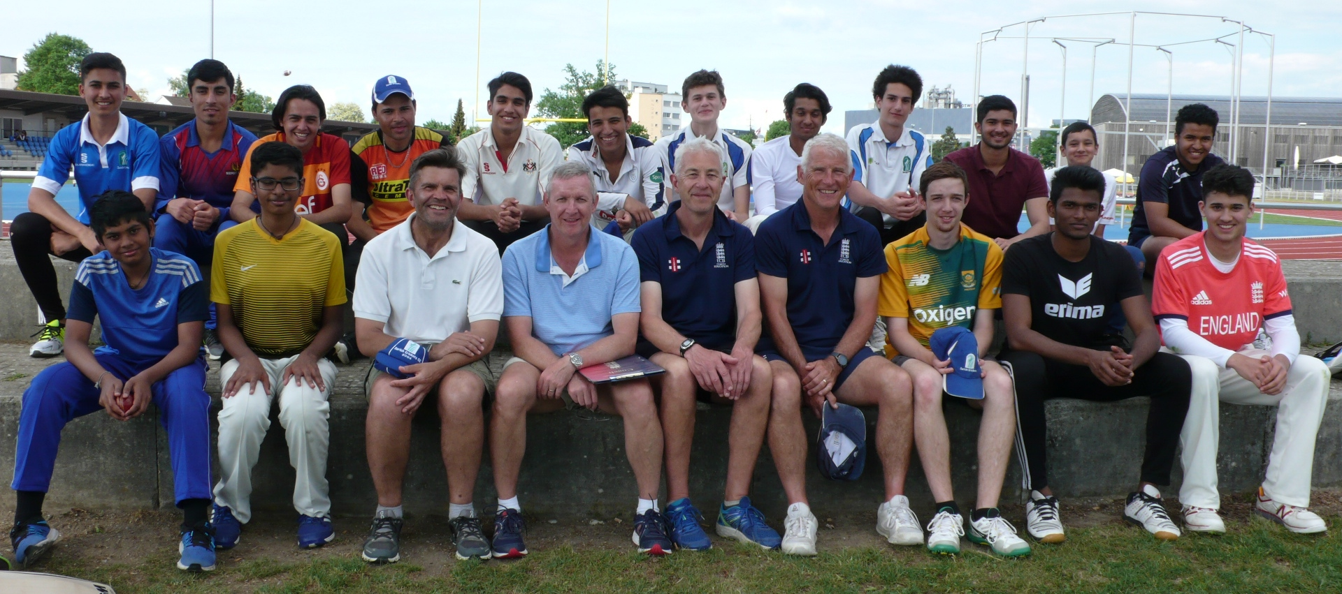 Hampshire camp with the older players in 2018