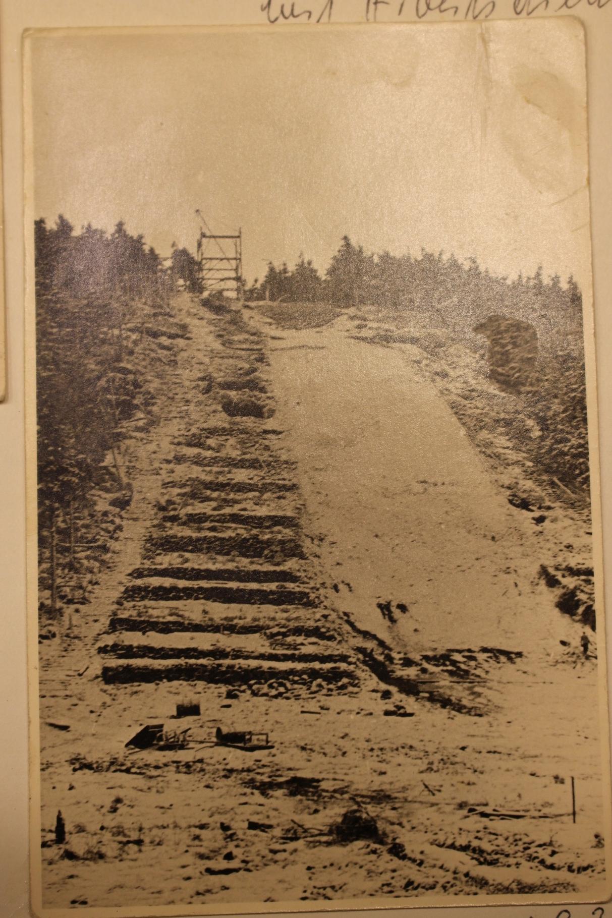 Bau der Sprungschanze, 1933