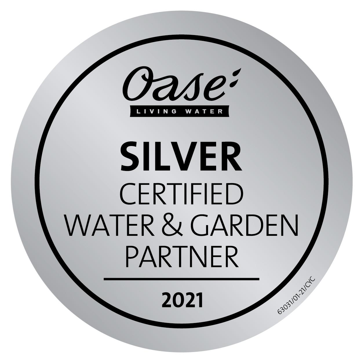 Silber-Partner bei Oase Teichbau