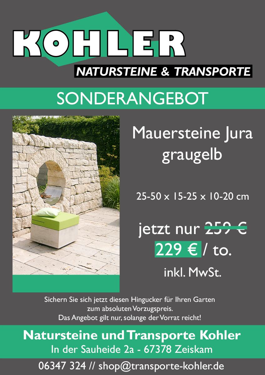Jetzt Jura-Mauersteine zum Vorzugspreis sichern