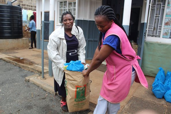 Food Baskets Distributed to 110 Families