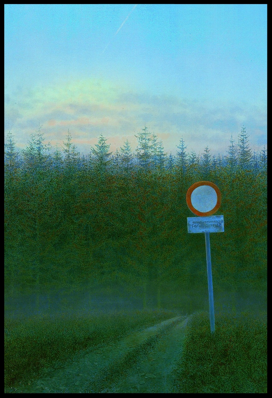 Die Forststrasse,(Forest Road) 100x70cm