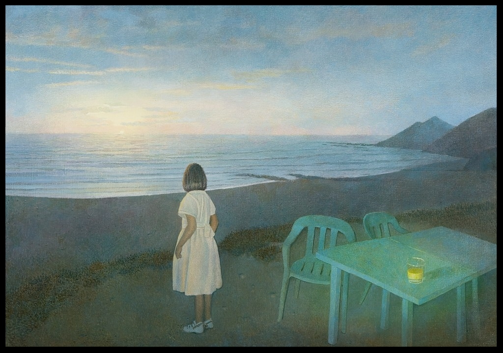 Das Mädchen am Meer, (The Girl at the Beach),70x100cm