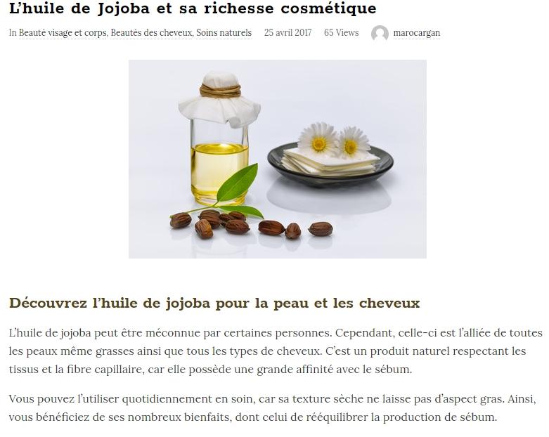 Extrait d'un article sur le blog Maroc argan