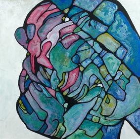La tête de chou 2016 Acrylique sur toile 100 x 100cm