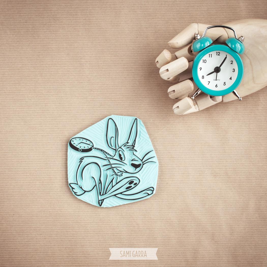 mi versión del conejo, carvado a mano