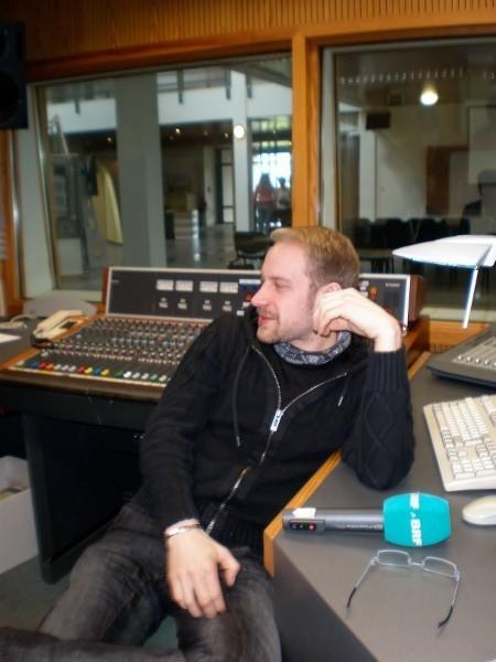 Das BRF Studio mit Andy im Vordergrund