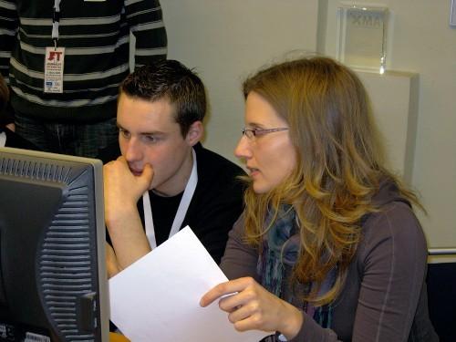Jan und Cynthia Lemaire (vom GE)